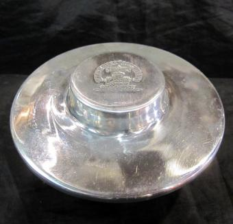 Large metal shaving soap dish