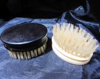 Faux ivory travel brush hand-made
