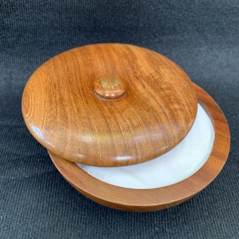 Rosewood town bowl with soap